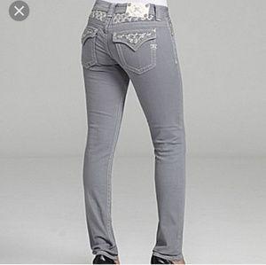 Miss Me slate gray skinny jeans sz 31x31